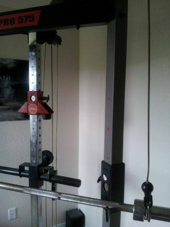 Self spotting weight bench with attachments - $275 (North central S.A.)
