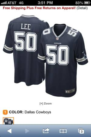 NEW Dallas Cowboys Jerseys Authentic Nike - $80 (Lackland)