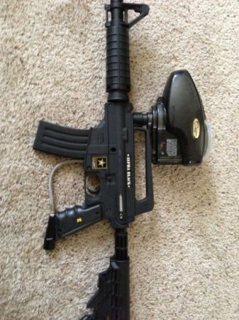 Tippmann US Army Alpha Black Paintball Gun - $200 (Boerne)