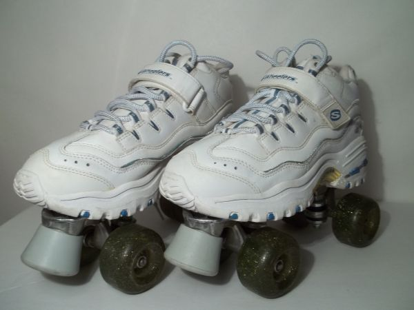 Skechers 4 Wheelers Roller Skates Size 9 - $15 (Lackland area)