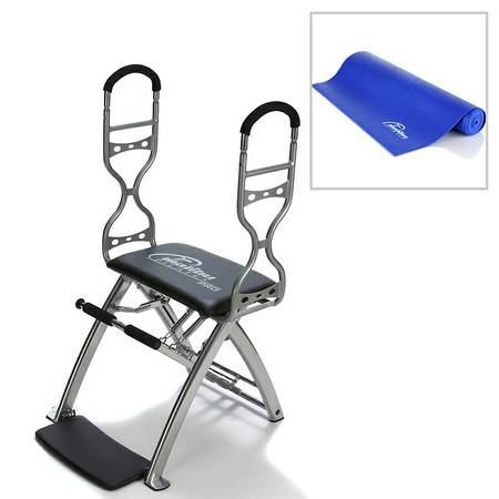 Malibu Pilates Pro Chair Deluxe with Mat, Sculpting Handles and 7 DVDs - $350 (Babcock Hebuner)