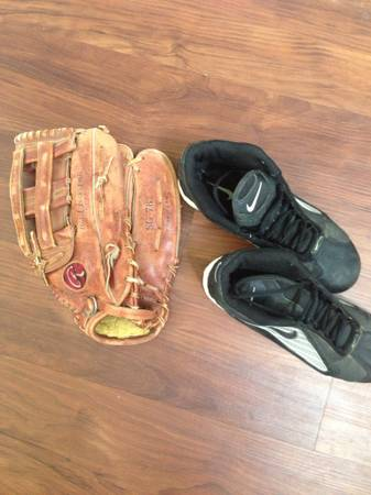 Rawlings Softball glove and Nike cleats - $35 (Med Center)