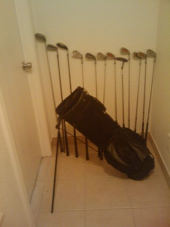Golf Clubs and Bag With Stand - $30 (78233)