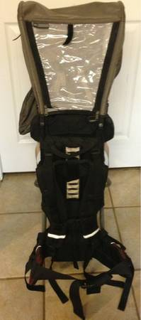 $300 HIKING CHILD CARRIER BACKPACK REI TAGALONG PLUS RAIN BONNET - $150 (BY THE FORUM)