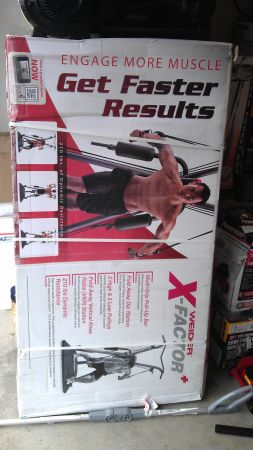 Weider X-Factor Plus Home Gym ,New In Sealed Box 100 New - $245 (North EastStone Oak)