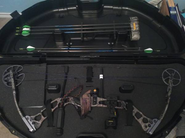 G5 Quest Hammer compound bow loaded - $400 (1604patranco)