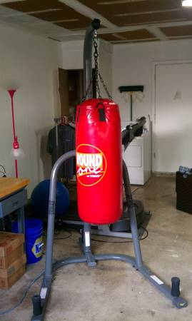 Punching bag with stand - $130 (Leon valley)
