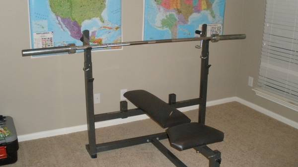 Weight Bench Lat Pull Down Set - $550 (North San Antonio)