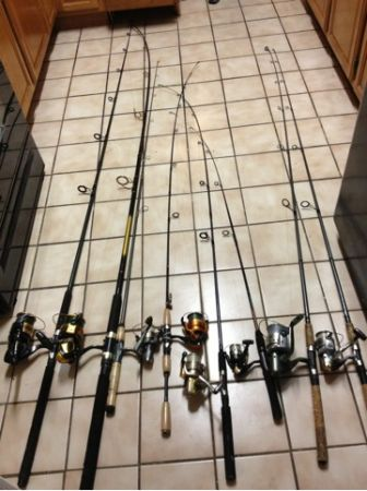 Fishing rods and reels clean out (Central San Antonio )