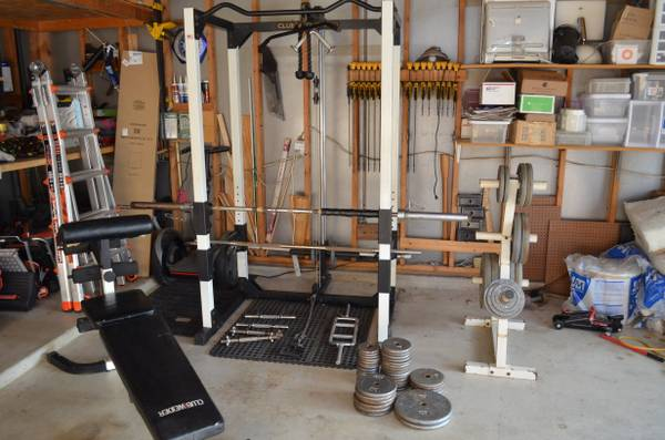 Club Weider 560 Weight Bench and Rack with Weights - $300 (La VerniaAdkins)