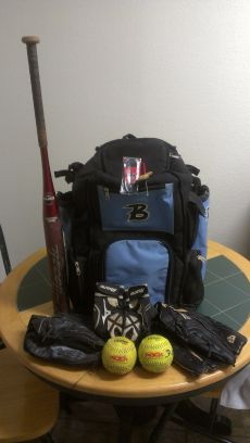 Softball Bat, Glove and Bat Bag - $125 (SW SA)