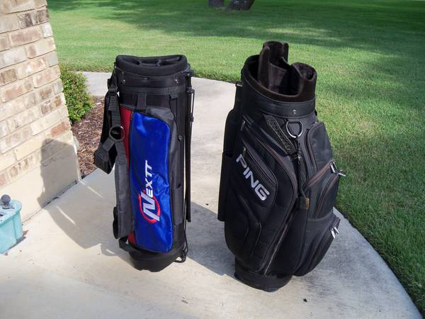GOLF BAGS 2 PING PRO BAG AND WALKING STAND BAG BOTH - $50 (LOOP 1604SE)