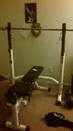 300 lb Olympic Weight Set Bench - $350