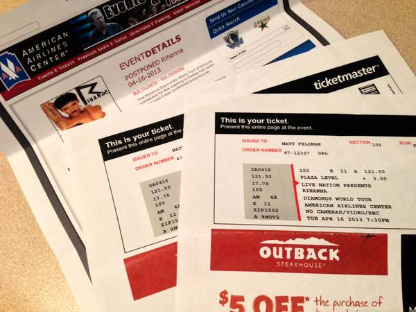 Two (2) Rihanna Concert Tickets - $570