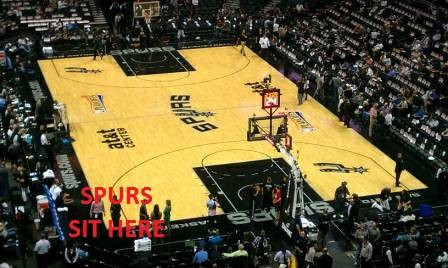 SPURS -VS- BUCKS - 119 - 3 SEATS IN ROW 1 - MORE GAMES AVAILABLE - $25 (ROW 1 - VERY FIRST ROW   )