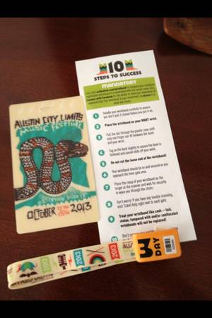 ACL 3 day pass wristband - $150 (NW)