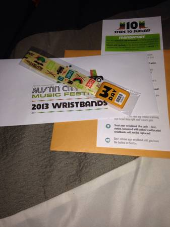 ACL 3 day pass for 11th-13th - $200 (Can meet you)