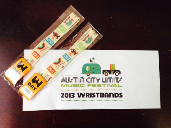 2 ACL 2013 3-day passes for Weekend 2 - $225 (San Marcos)