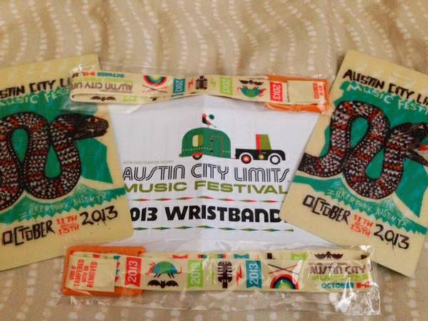 ACL 3 Day Wristband Weekend 2 - $155 (NW San Antonio)