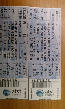 Trans Siberian Orchestra Floor Tickets - $250 (ATT Center)