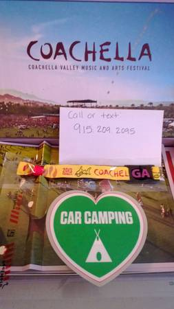 Coachella Weekend 2 with CAR CAMPING - $430 (San Antonio)