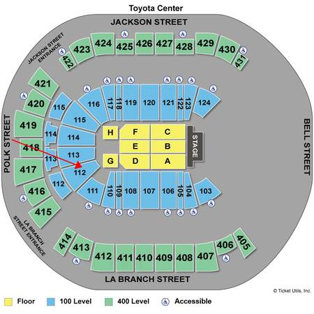 2 Tickets Rihanna Diamonds World Tour Concert Sect. 112 - $325 (Houston Toyota Center)