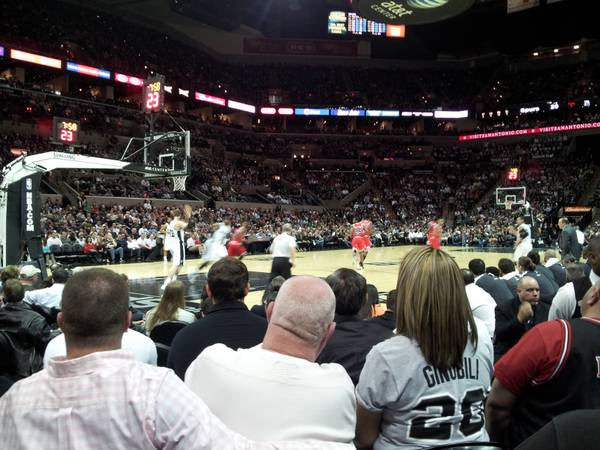 Spurs Trail Blazers (2) Row 7 Tickets and (1) Parking Pass - $180 (Sec 112 Row 7 Seat 1-2 Lot 4)