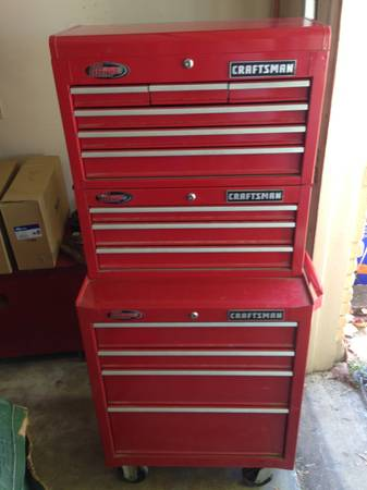 Craftsman triple stack tool boxes - $250 (west side)
