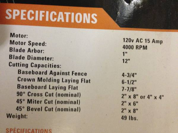 RIGID 12 COMPOUND EXACTLINE LASER MITER SAW WTABLE - $200 (New Braunfels)