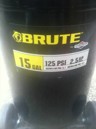 Brute 15 Gallon Air Compressor - $150 (ConverseSan Antonio)