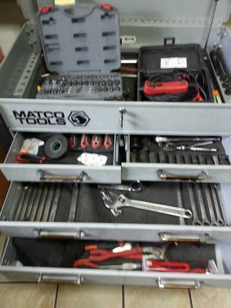 MATCO TOOL BOX AND TOOLS - $600 (south san antonio)