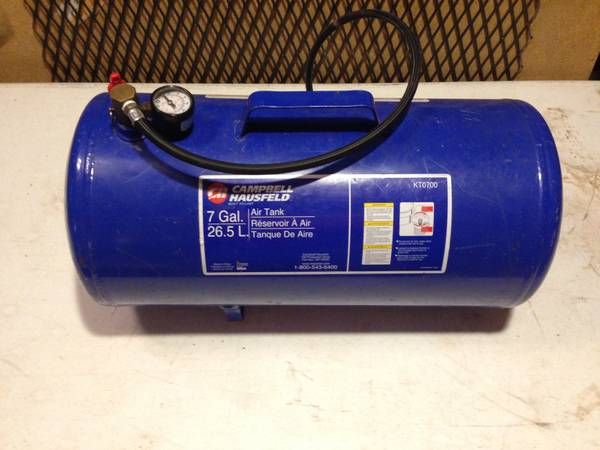 CAMPBELL HAUSFELD 7 GALLON 26.5 L AIR TANK CARRY TANK - $30 (SAN ANTONIO STONE OAK AREA)
