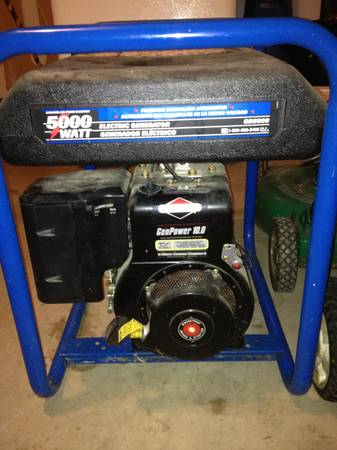 DEVILBISS Electric Generator 5000 WATT - $325 (San Antonio, TX)