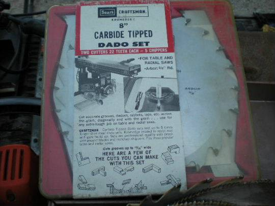 8 Inch Craftsman DADO Blade set plus other table saw blades (lavernia)
