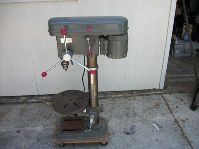 150  5 speed Heavy duty drill press wlight