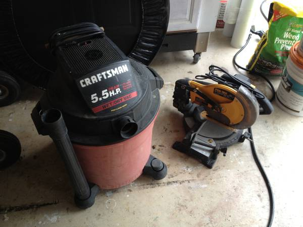 Shop Vac and Miter Saw - $75