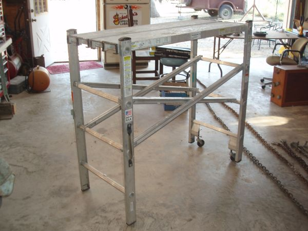 Portable Scaffolding Platform : Werner portable scaffold espotted