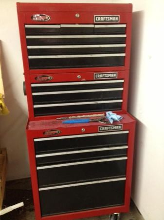 Craftsman tool boxes -- 3 pieces total (stacking, on whe - $350 (Judson Road)