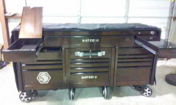 $8,000, matco 6s series triple bay with doc cart