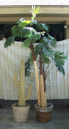 Lot of Artificial Plants - Saguaro Cactus Palm Tree - $50 (Callaghan IH10 West)