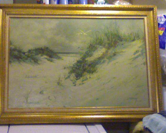 OCEAN SCENE - CAROLYN BLISH ORIGINAL PAINTING - $50 (NW SAN ANTONIO)