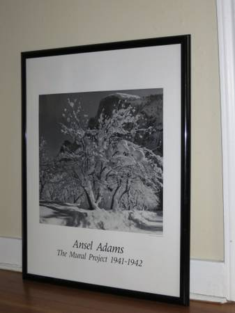 3 Framed Ansel Adams Prints - $50 (Alamo Heights)