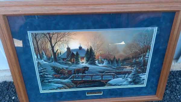 Terry Redlin heading home framed signed picture - $100 (boerne or near the Rim)