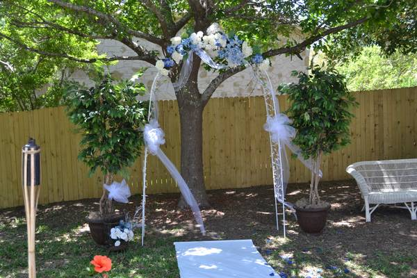 8ft. Wedding Arch plus more . .  (Stone Oak)
