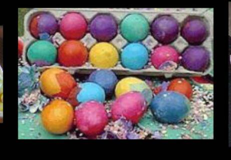 EASTER EGGS CASCARONES CONFETTI EGGS - $1 (NORTHEAST)