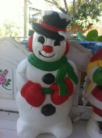 VINTAGE CHRISTMAS DECORATIONS (BLOW MOLD) SNOWMAN - $35 (North San Antonio)