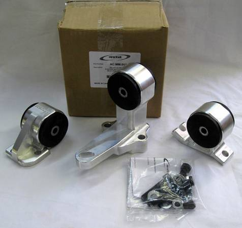 AVID ALUMINUM MOTOR MOUNT KIT HONDA CIVIC 88-91 CABLE TRANNY B series - $200 (NW)