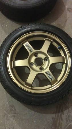 15 TE37 Volk 4x100 wheels - $1200 (Dallas)