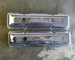 Edelbrock chrome valve covers ford 351 or 352 $30 obo - $30 (NE LOOP 410)