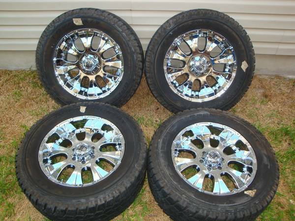 20 INCH OFFROAD RIMS AND TIRES CHEVY 6 LUG - $1600 (MARBACH1604)